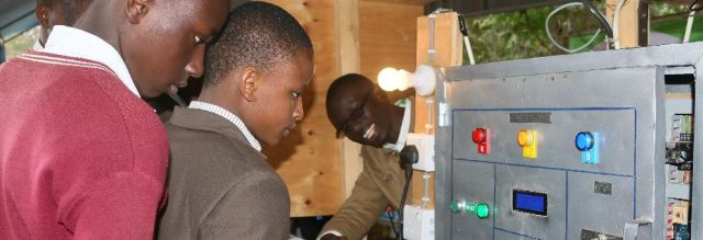 High school students learn about JKUAT innovations at the Central Kenya Show in September 2017